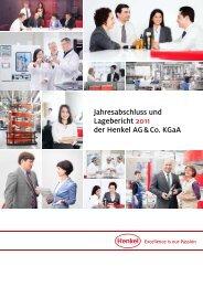 Jahresabschluss und Lagebericht 2011 der Henkel AG & Co. KGaA