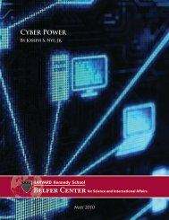 Cyber Power Cyber Power - Belfer Center for Science and ...