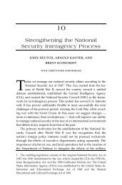Strengthening the National Security Interagency Process