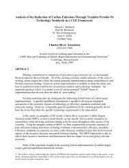 Analysis of the Reduction of Carbon Emissions Through Tradable ...
