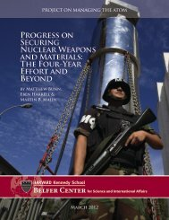 The Four-Year Effort and Beyond - Belfer Center for Science and ...