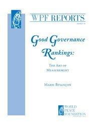 Good Governance Rankings: The Art of Measurement - World Bank ...