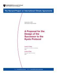 A Proposal for the Design of the Successor to the Kyoto Protocol