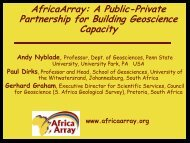 AfricaArray: A Public-Private Partnership for Building Geoscience ...