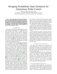 Designing Probabilistic State Estimators for Autonomous Robot ...