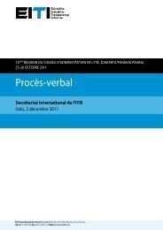 Procès-verbal - EITI