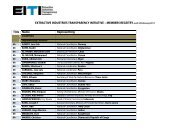 MEMBERS REGSITRY Title Name Representing - EITI