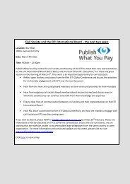 la société civile et le conseil d'administration international de l ... - EITI