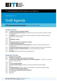 Draft Agenda - EITI