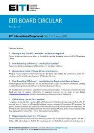 EITI BOARD CIRCULAR