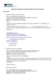 Approbation du rapport de validation EITI 2011 par le Comité National