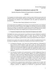 La transparence au niveau des contrats - EITI