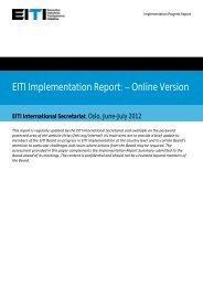 Indicator Assessment - EITI