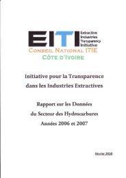 rapport 2006-2007 - EITI