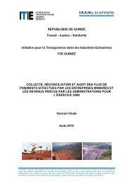 Rapport final ITIE Guinée 2009 - EITI