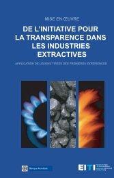 de l'initiative pour la transparence dans les industries extractives - EITI