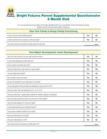 bright futures 15 month pdf