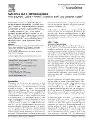 Cytokines and T-cell homeostasis - CHUV