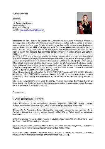Curriculum vitae - CHUV