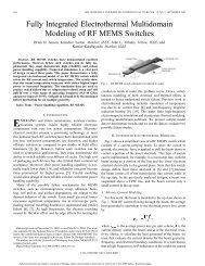 Fully integrated electrothermal multidomain modeling of RF MEMS ...