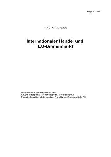 Internationaler Handel und EU-Binnenmarkt - Aklimex.de