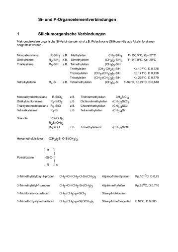 Si- und P-Organoelementverbindungen 1 ... - Aklimex.de