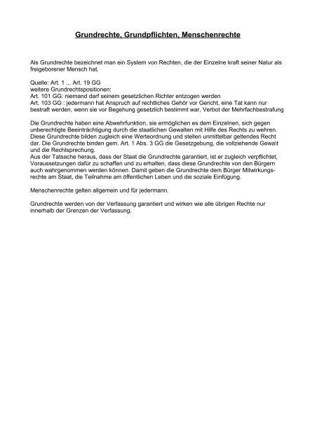 Grundrechte - Aklimex.de