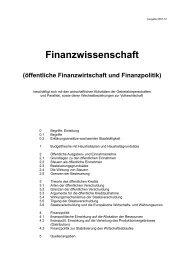 Finanzwissenschaft (öffentliche Einnahmen und ... - Aklimex.de