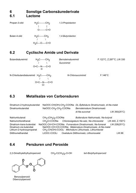 Carbonsäurederivate 1 Carbonsäureester 1.1 ... - Aklimex.de