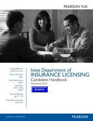 Iowa Insurance Candidate Handbook - Pearson VUE