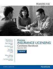 KS Insurance Candidate Handbook - Pearson VUE