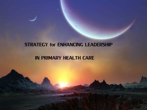 STRATEGY for ENHANCING LEADERSHIP I - What is GIS