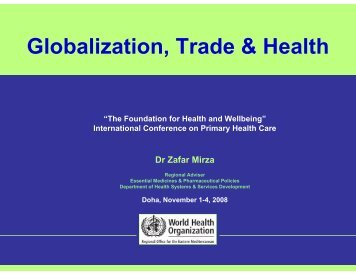 Globalization, Trade & Health - What is GIS