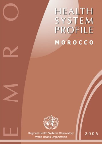 Morocco : Complete Profile - What is GIS - World Health Organization