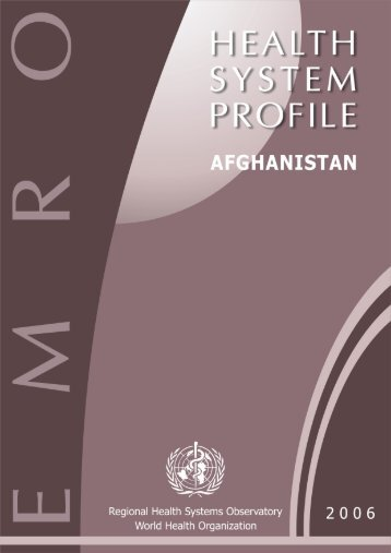 Afghanistan - What is GIS - World Health Organization