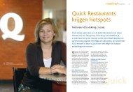 Quick Restaurants krijgen hotspots - Belgacom
