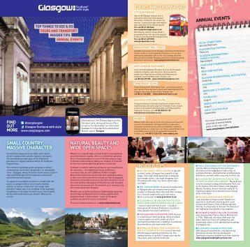 Delegate Leaflet - Glasgow Scotland with Style