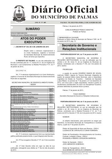 Diario_Municipio_N_685_21_ 1-.indd - Diário Oficial de Palmas