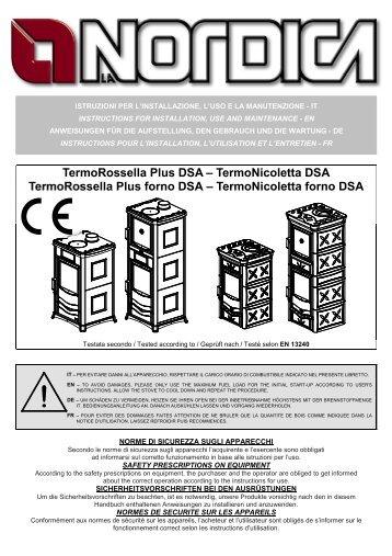 TermoRossella Plus DSA – TermoNicoletta DSA TermoRossella ...