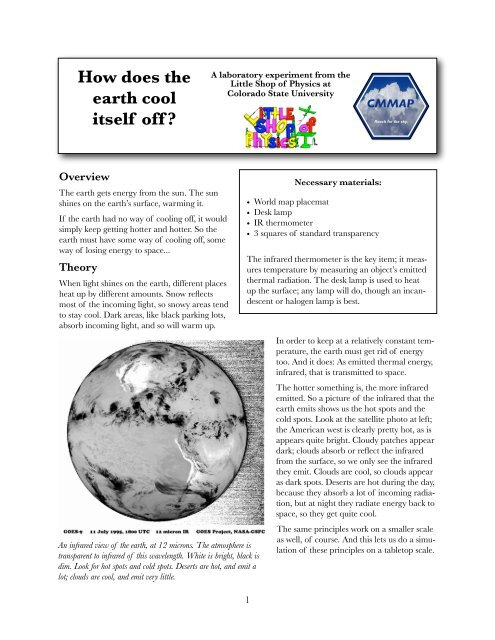 How does the earth cool itself off? - Little Shop of Physics