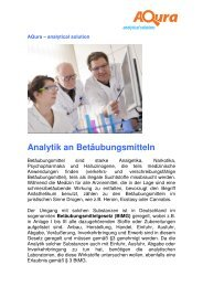 Analytik an Betäubungsmitteln - Aqura Gmbh