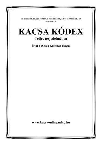 KACSA KÓDEX