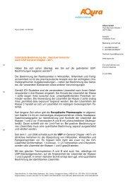 "Geänderte Bestimmung der ""Residual Solvents ... - AQura GmbH"
