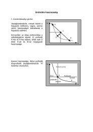 Ordinális hasznosság I. közömbösségi görbe Jószágkombinációk ...