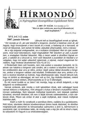 XVI. évf. 1-2. szám 2007. január-február - Mindenkilapja