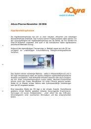 Aqura-Pharma-Newsletter: 02/2006 Kapillarelektrophorese