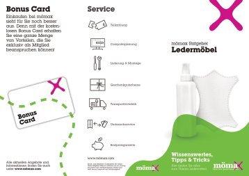 Service Bonus Card Ledermöbel