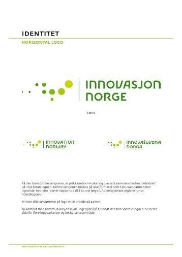 Bruk av horisontal logo - Innovasjon Norge