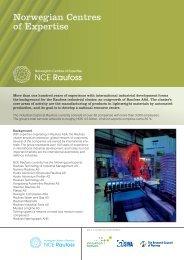 Norwegian Centres of Expertise