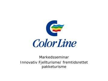 Color Line sin presentasjon - Innovasjon Norge